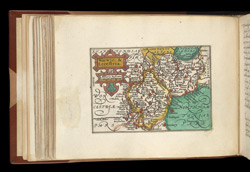 Map of Warwickshire and Leicestershire, from Atlas of the British Isles, Pieter Van Den Keere
